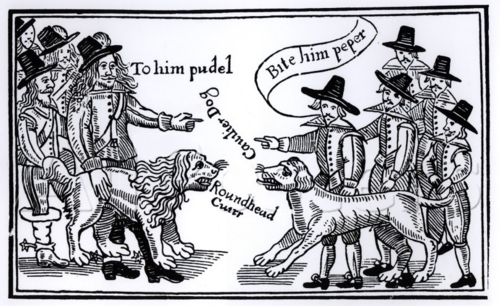 Roundhead dogs were short-haired puritanical sorts.