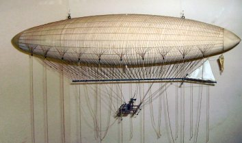 Model of Giffard's airship/death-trap.