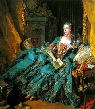 La Pompadour reclines with a good book - one that makes sense, presumably.