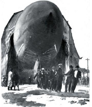 The America leaving the hangar in Atlantic City.