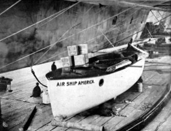 The America's lifeboat, built on the Isle of White by Saunders of Cowes.