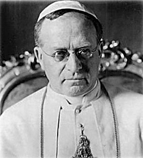 Pius XI was quite into science and shit. He met the crew of the Italia before their departure to give them an ineffective papal blessing.