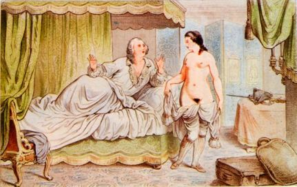 Casanova confirming that Bellino is not a castrato, but a woman with a fake cock.